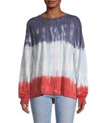 c & c california women's poppy tie dye sweatshirt - mood indigo - size m