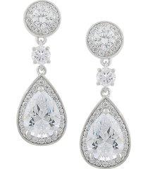 jan-kou women's cubic zirconite teardrop earrings