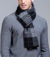 sciarpa calda di spessore di lana pura di affari degli uomini sciarpa di plaid casuale di alta qualità
