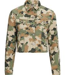jacka cropped rider jacket camouflage