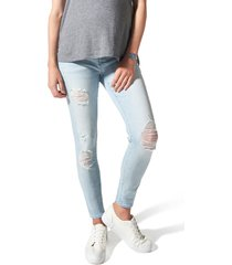 women's blanqi ripped belly support maternity skinny jeans