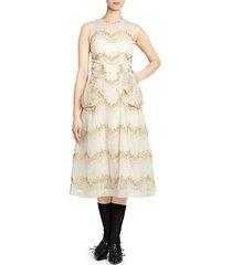 sleeveless smocked a-line dress