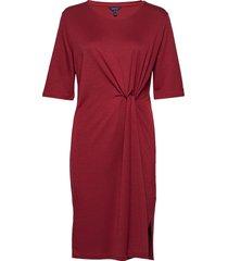 d1. waist knot dress knälång klänning röd gant