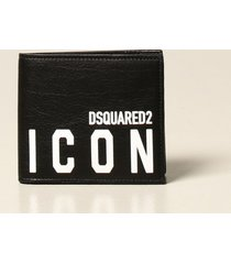 dsquared2 wallet dsquared2 wallet in leather with print