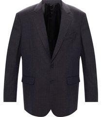 fine-check blazer