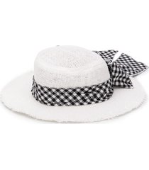 lapin house bow detail band hat - white