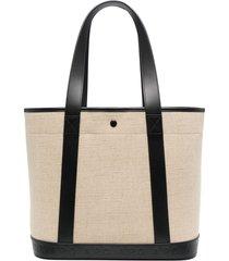 a.p.c. leather-strap tote bag - black