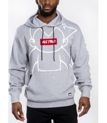 southpole men's astroboy premium power fleece chenille patch pullover hoodie