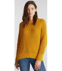 sweater mujer texturado amarillo esprit