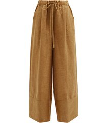 olympia linen palazzo trousers