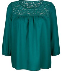 blus dress in smaragd