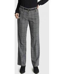 pantalón formal con diseño gris lorenzo di pontti