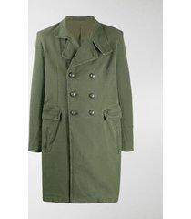 balmain military double-breasted coat