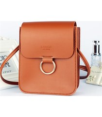 mini borsa a tracolla casual in vera pelle da donna in ecopelle 3 strati
