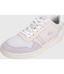 tenis gris-lila-rosa lacoste t-clip