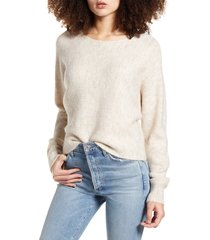 women's leith dolman sleeve pullover, size medium - beige