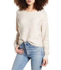 women's leith dolman sleeve pullover, size small - beige