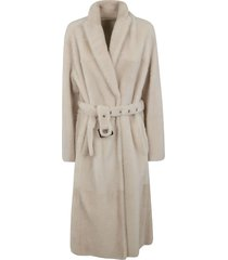brunello cucinelli belt-tie mid-length coat