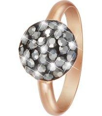 anello in argento 925 rosato e cristalli hematite per donna