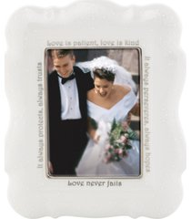 """closeout! lenox """"opal innocence"""" love is patient frame, 5"""" x 7"""""""
