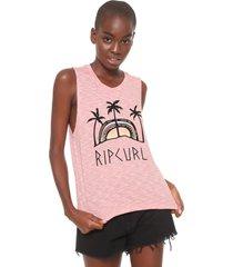 regata rip curl estampada rosa - rosa - feminino - dafiti
