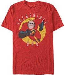 disney pixar men's incredibles super dad, short sleeve t-shirt