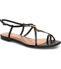 lerinna shoes summer shoes flat sandals svart ted baker