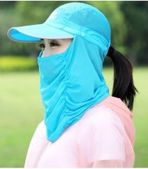 nuevo protector solar exterior femenino sombrero para el sol azul