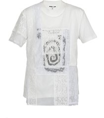 mcq alexander mcqueen lace t-shirt