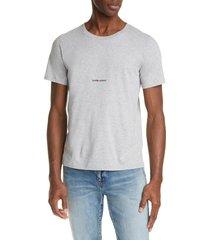 men's saint laurent gauche logo t-shirt, size small - grey