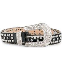 philipp plein embellished cowboy belt - black