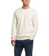 weatherproof vintage men's cable crew neck sweater