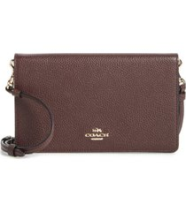 coach hayden foldover crossbody clutch - burgundy