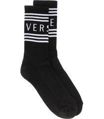 versace cotton socks with logo