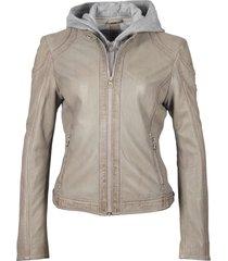 gipsy ggaelly lamas leather jacket lt grey