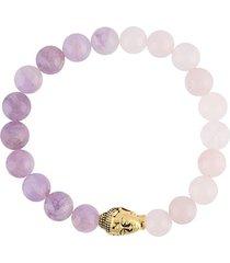 nialaya jewelry beaded buddha bracelet - pink
