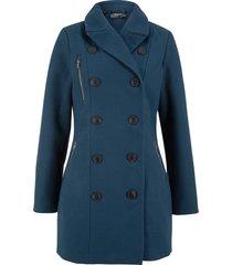 giacca lunga in simil lana stile trench (blu) - bpc bonprix collection