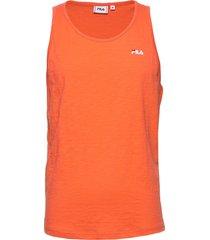 men alex tank top t-shirts sleeveless orange fila