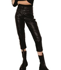 pantalon negro tif cher slouchy cuerina