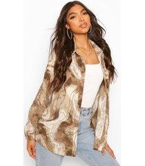 tall marmerprint blouse, khaki