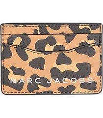 animal-print pvc card case