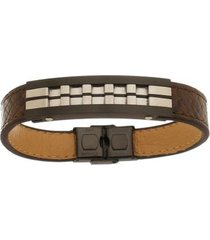 bracelete de aço inox tudo joias black com 13mm de largura