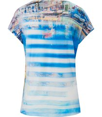 shirt met kapmouwen van mybc multicolour