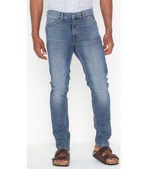 dr denim clark jeans blå