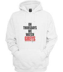 on thursday we watch greys greys anatomy unisex hoodie s-3xl white