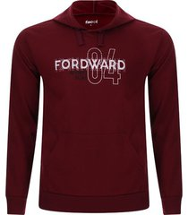 buzo con capota fordward color vino, talla s