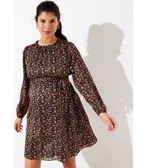 loft maternity shimmer floral tie waist dress