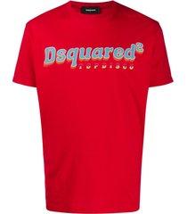 dsquared2 top disco print t-shirt - vermelho