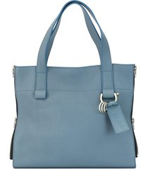 discord yohji yamamoto small zipper tote bag - blue