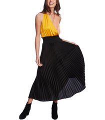 1.state colorblocked-top pleated dress